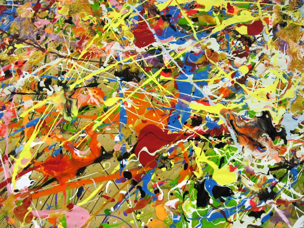 Jackson Pollock painting, or three-piece duck puzzle?