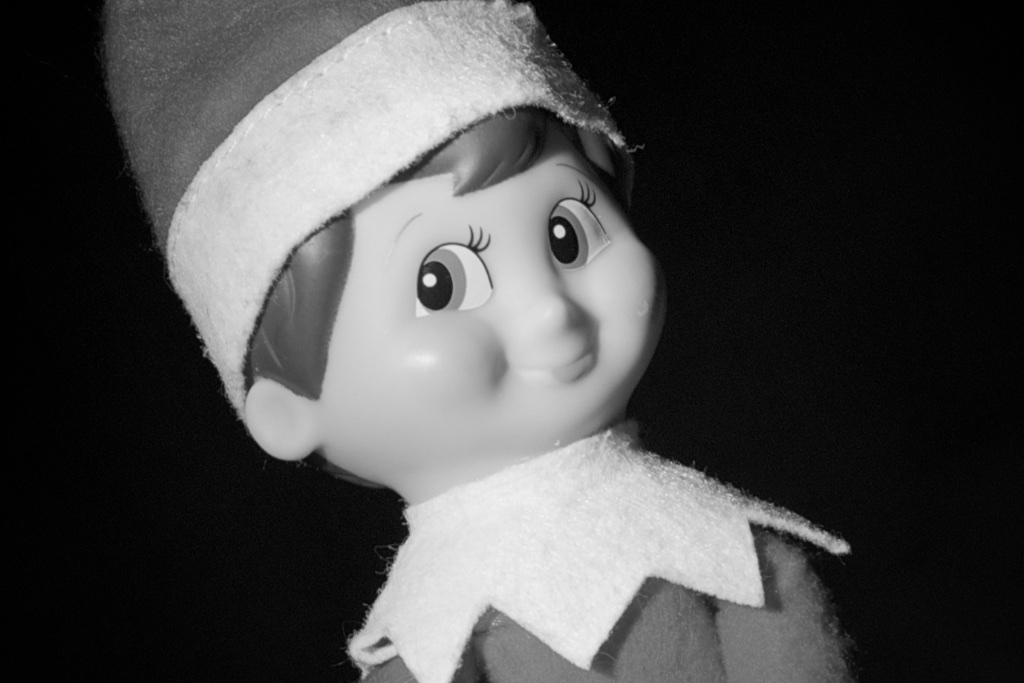 The Elf on the Shelf has creepy eyes