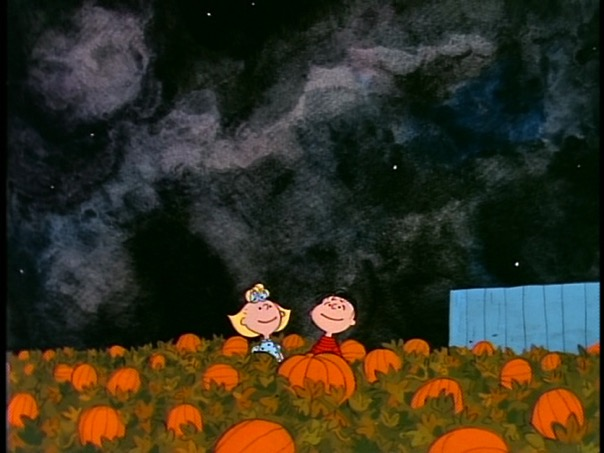 SAMMY: They're standing right next to the biggest pumpkin. Maybe that means it's the Great Pumpkin?