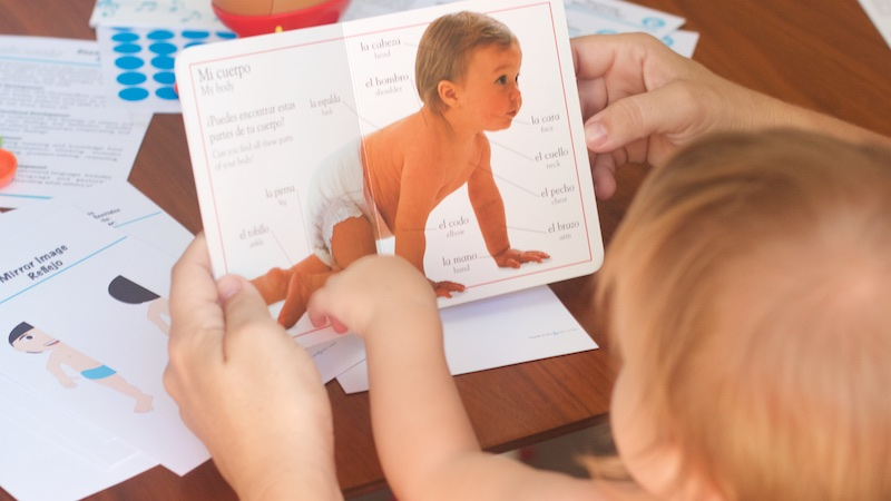 bilingual baby book