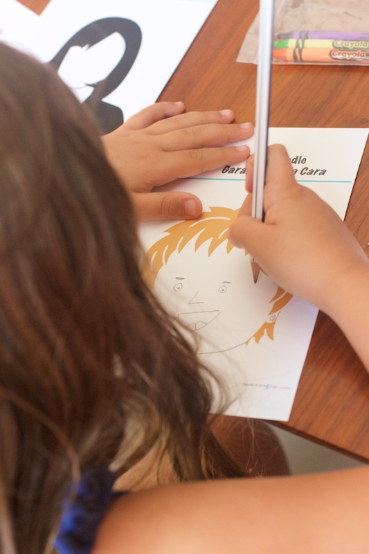 bilingual drawing activity