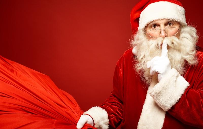 Santa says Shhhh