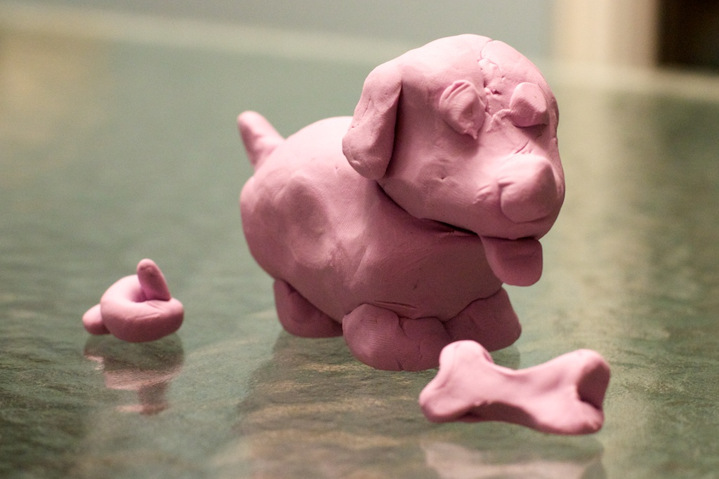 Technically, this sculpture was made by an adult. But since he clearly has the mind of a child, it still qualifies.