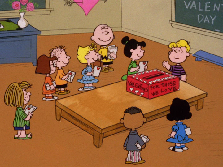 FREDDY: Me scared. MOM + DAD: You're scared of Charlie Brown? FREDDY: Uh huh.