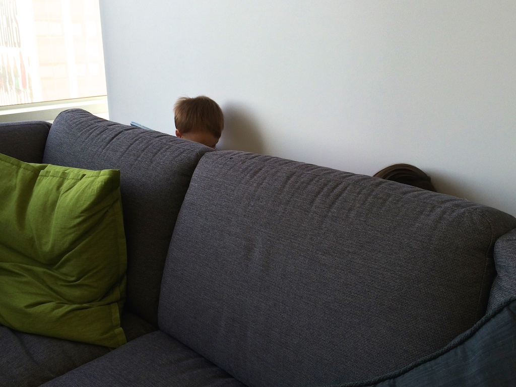 If you need a break from your boss, just hide behind the couch.