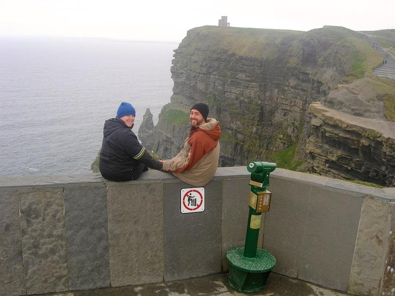 Blatantly ignoring safety signage...