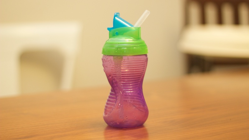 sippy cup with skinny straw