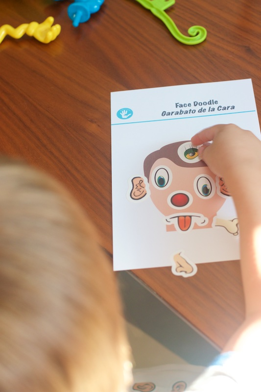 bilingual sticker face