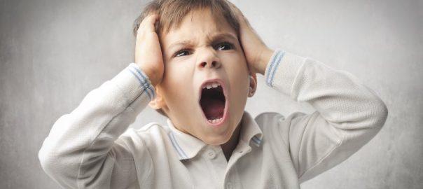 child throwing a temper tantrum